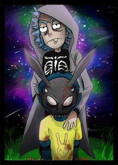 Rick and Morty Donnie Darko (plz stop stealing it by MeLiNaHTheMixed on DeviantArt Trippy Rick And Morty, Rick And Morty Drawing, Rick And Morty Tattoo, Rick And Morty Quotes, Rick And Morty Poster, Rick Und Morty, Rick And Morty Characters, Character Art, Character Design
