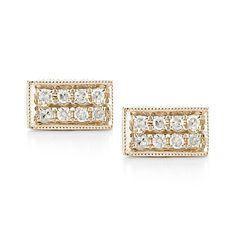 """Dana Rebecca """"Katie Z"""" Diamond Studs in Rose Gold"""