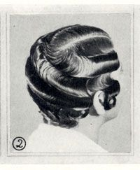 1930 waved hairstyle photo