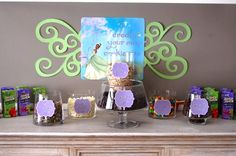 Princess and the Frog theme party  cookie making station
