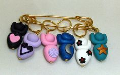 Stitch Markers GODDESS  for Knit or Crochet set of 6 by fcwhimsey, $14.99
