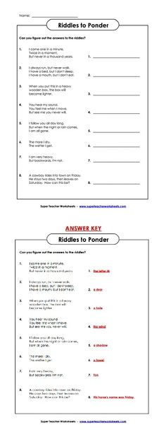 Have your students try some clever riddles!
