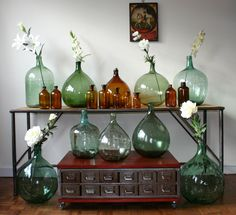 My collection of French vintage Demijohn