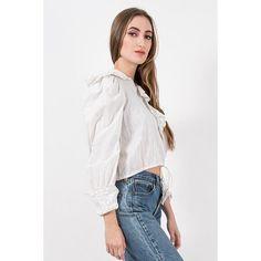Edwardian era white blouse / Vintage puff sleeve middy blouse / 1910s eyelet lace crop style shirt / Leg o mutton sleeves / XS