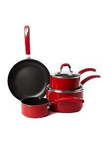 Principle red four piece pan set