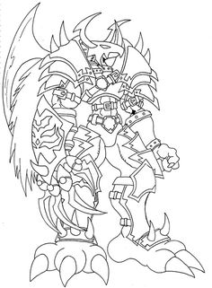 digimon weregarurumon coloring pages | digimon-frontier-coloring-pages.gif (500×363) | LineArt ...