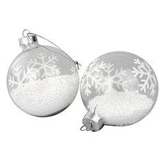 8 Stück Elegante Glas Weihnachtsbaumkugeln Christbaumkugeln Weihnachtsbaumschmuck Glaskugeln mit Styroporfüllung Ø7,5cm Schneeflocke