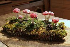 spun cotton mushroom tutorial