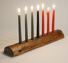 The seven candles in the kinara represent the seven principles of Kwanzaa. By making the kinara, your family will celebrate kuumba (creativity), one of the Kwanzaa principles.
