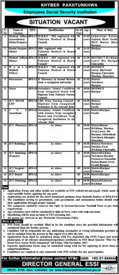Children Hospital Jobs  In Multan For Attendant And Naib Qasid