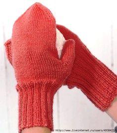 Вязание варежек спицами - для начинающих. Мастер-класс.