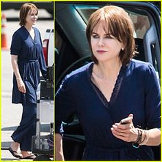 Nicole Kidman sports a navy blue pajamas while stepping out of her trailer on the set of The Family Fang on Tuesday (August 5) in New York City. The day before, the 47-year-old actress was spotted wearing boots and jeans while walking on the set of the movie. PHOTOS: Check out the latest pics of