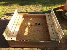 DIY Sandbox. Note to self: recruit Uncle Andy