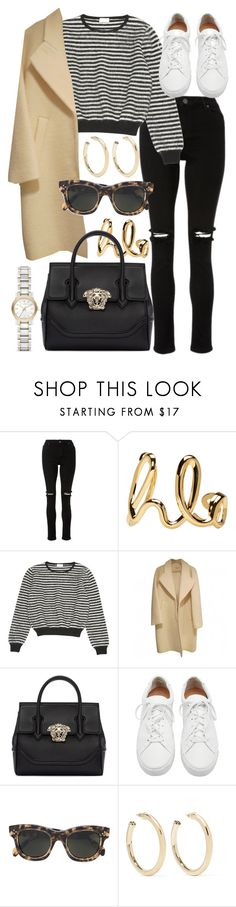 """""""Untitled #21739"""" by florencia95 ❤ liked on Polyvore featuring Chloé, Yves Saint Laurent, Versace, Loeffler Randall, CÉLINE, Kenneth Jay Lane and Burberry"""