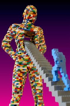 Lego Art: Internationally recognized LEGO® artist returns to Hollywood! Legos, Lego Sculptures, Amazing Lego Creations, Lego Boards, All Lego, Lego Design, Lego Group, Lego Projects, Custom Lego