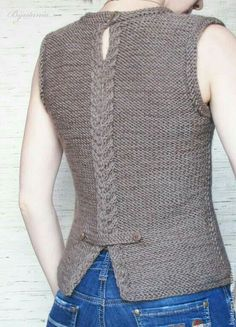 Best Knitting Models for Women - Tricot Diy Crafts Knitting, Diy Crafts Crochet, Crochet Buttons, Knit Crochet, Hand Knitted Sweaters, Knit Vest, Jacket Pattern, Knitting Designs, Pulls