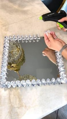 Diy Crafts For Home Decor, Craft Room Decor, Diy Crafts Hacks, Creative Crafts, Diys, Diy Projects, Dollar Tree Finds, Dollar Tree Decor, Dollar Tree Crafts