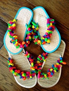 Bling out your flip flops - easy and fun!  For young and old!