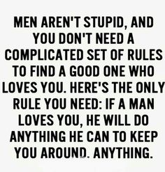 Men aren't stupid....