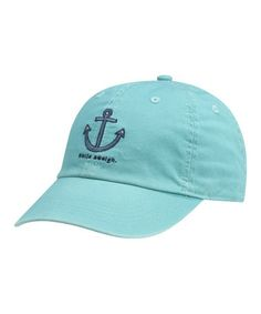 Take a look at this Aqua Blue 'Smile Aweigh' Chill Baseball Cap - Women on @zulily today!