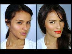 Tendencia de Maquillaje 2014- Labios Naranjas y piel luminosa - YouTube