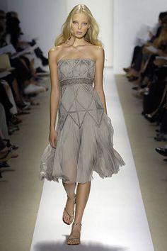 J. Mendel Spring 2008 Ready-to-Wear Fashion Show - Julia Stegner
