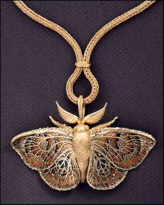 Moth Pendant Brooch, 1994. John Paul Miller so beautiful