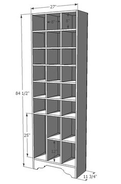 I want to make this!  DIY Furniture Plan from Ana-White.com  Free, simple, easy, DIY, step by step plans to build the ultimate shoe storage cabinet. Inspired by Ballard Design's Sarah Storage Tower, you can think beyond the boots and shoes and handbags - this beautiful storage cabinet would work anywhere from the Nursery to the office, the entryway to the dining room.
