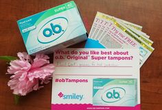 I received a #freesample of  ob Tampons from #Smiley360 #ad