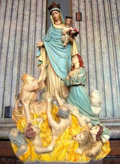 Our Lady of the Poor Souls, Old St. Mary's Church, Cincinnati, Ohio ~ A popular shine on All Souls Day, the Blessed Virgin is assisting the souls in purgatory. ~ by elycefeliz
