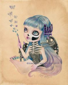 by Simona Candini - little demons of inspiration (bones and poetry)