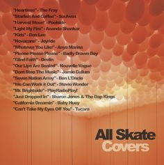 "All Skate ""Covers"" DJ mix album art - back."
