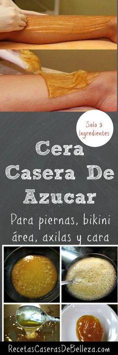 CERA DE AZÚCAR EN CASA