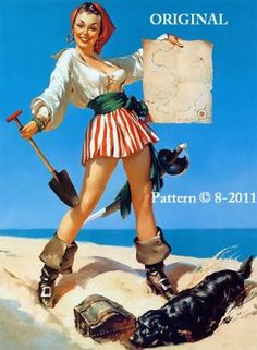 I have always wanted a pirate pin-up girl tattoo!