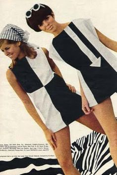 Colour Block 60's Shift Dress