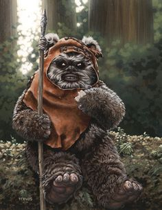 Wicket by Chris Trevas; a much needed Monday diversion.  Who can frown when looking at an ewok? Only a stormtrooper.  Only a stormtrooper.