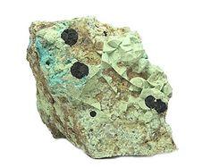 Blue Azurite coated with Chrysocolla Green Malachite
