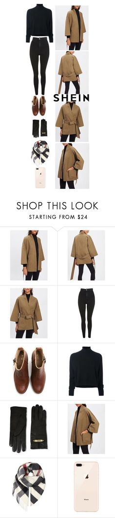 """SheIn Contest - Self Tie Drop Shoulder Kimono Coat"" by catarinahoran21 ❤ liked on Polyvore featuring Topshop, Acne Studios, Le Kasha, Moschino and Burberry #chestacne"