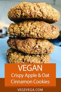 Biscuit Cookies, Breakfast Cookies, Vegan Breakfast, Healthy Breakfast Recipes, Vegan Recipes Easy, Vegetarian Recipes, Vegan Party Food, Vegan Snacks, Healthy Desserts