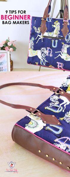 9 Beginner Bag Making Tips for Professional Bags - bag sewing patterns | purse patterns | free bag patterns | handbag patterns | tote patterns