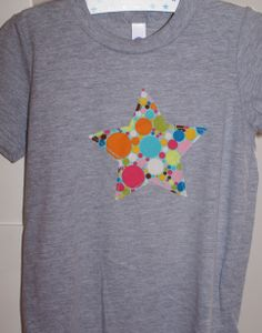 DIY sewing T-Shirt with star