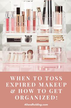 When to toss expired makeup including the secret symbol on your makeup that tells you when it expires! New on the Beauty Blog!#makeup #makeuporganization #skincare #beautyblog #organization #40andholdinglife #beautyover40 Large Acrylic Makeup Organizer, Acrylic Makeup Storage, Makeup Storage Kit, Makeup Organization, Pantry Organization, Bathroom Organization, Makeup Expiration, Palette Organizer, Everyday Makeup