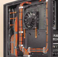 Pc Gaming Setup, Computer Setup, Pc Setup, Gaming Computer, Cable Management Pc, Custom Computer Case, Computer Equipment, Cuisines Diy, Custom Pc
