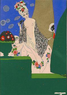 """""""La Guirlande"""" ~ Umberto Brunelleschi, 1919"""