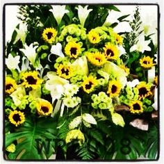 Sunflowers & White Lilies