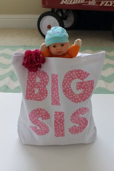 big sister bags given at the hospital when come to meet baby