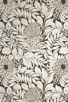 Floral wallpaper.  Part of me wants to get out the markers and start coloring.