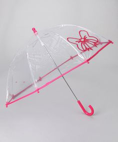 Take a look at this Fuchsia Transparent Bow Umbrella by Pluie Pluie on #zulily today!