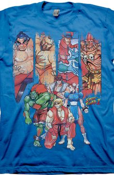 Characters Street Fighter T-Shirt: Street Fighter Mens T-Shirt