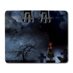 Mental Minds - Mouse Pad (horizontal) Cyber, 3 D, Goth, Industrial, Punk, Metal, Creative, Painting, Gothic